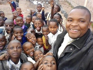 Kenya pastor D with children