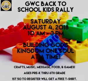 Back to School Kids Rally @ Genesis Worship Center